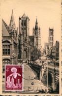 48225 Belgium, Maximum 1955  Gand Gent  Eglise Saint Nicolas , Architecture - Maximumkarten (MC)