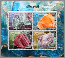 SIERRA LEONE 2019 MNH Minerals Mineralien Mineraux M/S - OFFICIAL ISSUE - DH1942 - Mineralien