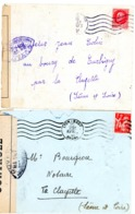 LOT DE 2 X CENSURE RHONE ENV 1941 LYON GARE OMEC + CENSURE NA192 = LYON - Storia Postale