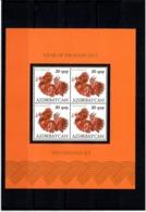 Azerbaijan 2012 . Year Of Dragon 2012. S/S Of 4 Stamps.   Michel # 912  KB - Azerbaiján