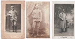 MILITARIA. CHAMPIGNEULLES (54) 8 CARTES PHOTO. 1er / 6é/ 7è/.25é/ 71è.  COURRIER De POILUS à Mme JALARD. - Guerra 1914-18