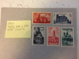 Cathédrale Et Basilique 1947 - Y&T  Série N°778 à 776 Timbres Neufs Coté 12€ (Tous En Très Bon état Garantie) - Ongebruikt