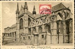 48227 Belgium, Maximum 1929 Mons  Collegiale -architecture - Maximum Cards