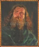Bardócz Árpád (1882-1938): Zichy Mihály Portré. Olaj, Vászon, Jelzett, Keretben, 60×50 Cm - Other Collections