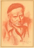 Deli Antal (1886-1960): Önarckép 1958. Pasztell, Papír, Jelzett, 30×21 Cm - Other Collections