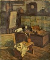 Deli Antal (1886-1960): Műterem. Olaj, Vászon, Jelzett, 67×55 Cm - Other Collections