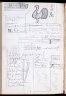 Z. Gács György (1914-1978):  Vázlatkönyv Karikatúrákkal, Vázlatokkal Híres Emberekről, Jegyzetekkel Művészeti Témában. - Other Collections