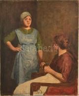 Glatter Ármin (1861-1931): Számonkérés. Olaj, Vászon, Jelzett, 68×55 Cm - Other Collections