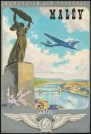 Gönczi-Gebhardt Tibor (1902-1994): MALÉV Plakát Terv. Megvalósult. Akvarell, Papír, Jelzett 30x20 Cm - Other Collections