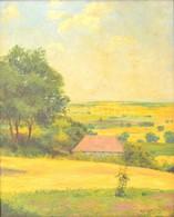 Györgyfy György (1896-1981): Sóskút 1929. Olaj, Vászon, Jelzett, üvegezett Keretben, 50×40 Cm - Other Collections