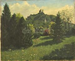 Háromházi Ferger Ferenc (1908-1983): Szigliget. Olaj, Vászon, Jelzett, Foltos,50×60 Cm - Other Collections