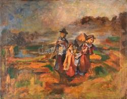 Holló László (1887-1976): Hazafelé. Olaj, Vászon, Jelzett, Restaurált, 45×56 Cm - Other Collections
