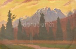 Katona Nándor (1864-1932): Felvidéki / Tátrai Táj. Olaj, Falemez,  Jelzett, 32x48 Cm üvegezett Keretben / Oil Woodplate, - Other Collections
