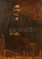 Kernstok Károly (1873-1940): Molnár Viktor Képmása. Olaj, Fatábla, Jelzett, Pótolt Keretben, Hátoldalán Almásy-Teleki Év - Other Collections