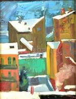 Kéri Imre (1945-): Ferencvárosi Háztetők. Olaj, Vászon, Jelzett, Keretben, 40×30 Cm - Other Collections