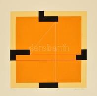 Konok Tamás (1930-): Definíció. Szitanyomat (5/40), Papír, Jelzett, 27,5×27,5 Cm - Other Collections