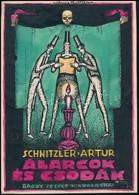 Kónya Zoltán (?-?): Schnitzler: Álarcok és Csodák, Könyv Borítóterv (1918), Vegyes Technika, Papír, Jelzett, 17×12 Cm - Other Collections