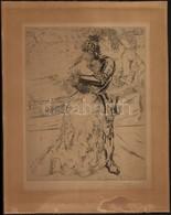 Hans Meid (1883-1957): Lovag és Szerelme. Rézkarc, Papír, Jelzett, 23×18 Cm - Other Collections