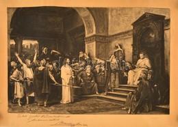 Munkácsy Mihály (1844-1900): Krisztus Pilátus Előtt. 'Keleti Gusztáv Barátomnak Munkácsy Mihály' Dedikálásával. Rézkarc, - Other Collections