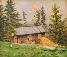 Nowinszky Jenő (1884-?): Menedékház. Olaj, Karton, Jelzett, 26×31,5 Cm - Other Collections