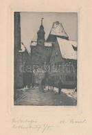 Maria Ressel (1877-1945): Rothenburg. Rézkarc, Papír, Jelzett, 9×6 Cm - Other Collections