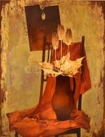 Somogyi-Soma László (1927-2004): Festők Virága. Olaj, Farost, Jelzett, Keretben, 80×60 Cm - Other Collections