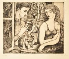 Szabó Vladimir (1905-1991): Vers. Rézkarc, Papír, Jelzett, 24,5×29 Cm - Other Collections