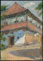 Vass Albert (1896-1969): Székelyház Részlet 1931. Olaj, Karton, Jelzett, 16×11 Cm - Other Collections