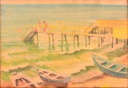 Zádor István (1882-1963): Langeron ( Odessza). Pasztell, Papír, Jelzett, üvegezett Keretben, 23×35 Cm - Other Collections