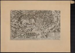 1596 Eger Ostroma és A Környék Térképe. Hieronymus Ortelius 'Chronologia Oder Historische Beschreibung' Című Munkájából, - Engravings