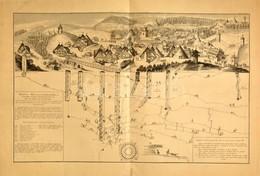 1726 Selmecbánya Latképe és Bányáinak, Tárnáinak Térképe Mappa Metallographica Celebris Fodinae Semnitziensis In Hungari - Engravings
