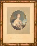 Cca 1853 Erzsébet Császárné és Királyné (Sisi), Színezett Acélmetszet, Papír, Johann Richard Schwager Képe Alapján Metsz - Engravings