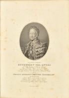Esterházy Pál Antal Herceg (1786-1866) Király Személye Körüli Miniszter Rézmetszetű Portréja. 28x20 C, Üvegezett Keretbe - Engravings