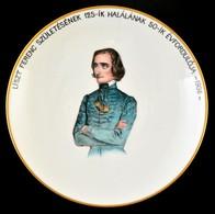 Herendi Emlék Falitál:' Liszt Ferenc Születésének 125-ik Halálának 50-ik évfordulója 1936' Felirattal, Részben Kézzel Fe - Ceramics & Pottery