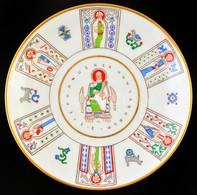 Herendi Emlék Falitál:'S Stephanus Rex Hungarorum 1038-1938' Felirattal, Kézzel Festett, Jelzett, Apró Kopásnyomokkal, D - Ceramics & Pottery