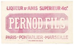 Buvard Pernod Fils, Liqueur D'anis Supérieure, Paris, Pontarlier, Marseille - P