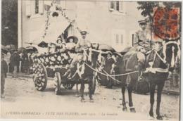 CPA  65   LOURES BARBAZAN  FETE DES FLEURS  AOUT 1912  LA GONDOLE - Autres Communes