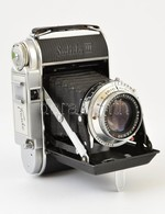 Cca 1951 Franka Solida III 6x6-os Fényképezőgép, Schneider-Kreuznach Radionar 80mm F/2.9 Objektívvel, Működőképes, Szép  - Cameras