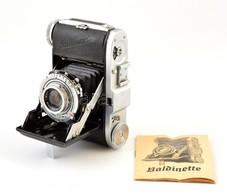 Cca 1950 Balda Baldinette Kisfilmes Fényképezőgép, Enna Werk Haponar 50mm F/2.9 Objektívvel, Működőképes, Szép állapotba - Cameras