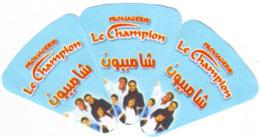 """Algérie - 3 étiquettes De Fromage Fondu """"Fromagerie Le Campion"""""""". - Fromage"""