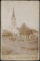 1906 Újvidék, Református Templom,  Keményhátú Fotó, Feliratozva, Kopott, 16,5×11 Cm / Novi Sad, Church - Other Collections