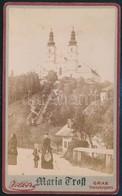 1895 Mariatrost, Templom és Környéke, Keményhátú Fotó Völker Grazi Műterméből, Jó állapotban, 11×6,5 Cm / Mariatrost, Au - Other Collections