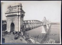 Cca 1900 Románia. I. Károly Király Híd Cernavodánál Pecséttel Jelzett Fotó / Romania King Carol Bridge 18x12 Cm - Other Collections