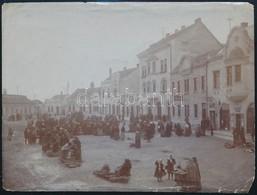 Cca 1900 Veszprém, Piac, Fotó, Sérüléssel, Hátoldalon Feliratozva, 11×15 Cm - Other Collections