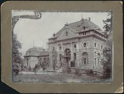 Cca 1910 Pöstyén, Ferenc József-fürdő, Fotó Kartonra Ragasztva, Sérült Karton, 17x12 Cm / Piešťany, Slovakia, Spa - Other Collections