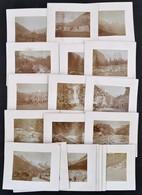 1904 Svájc, Tájképek, 21 Db Hátoldalon Feliratozott Fotó, Kartonra Kasírozva, 7,5×10 Cm / Switzerland, 21 Photos - Other Collections