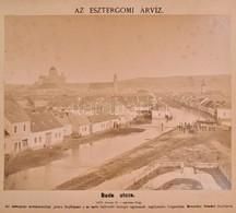 1876 Beszédes Sándor (1831-1889): 11 Db Fényképe Az Esztergomi 1876-os árvízről. (1876. Február 24-március 12.) ,,Az Esz - Other Collections