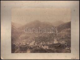 1895 Boszniai (Gorazda) Tájfotók, 7 Db Kartonra Kasírozott Fotó, 19×24 Cm / Bosnia, Gorazda, 7 Vintage Photo - Other Collections