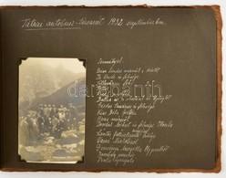 1932 Felvidéki, Tátrai Autóbusz Utazáson Készült Képeket Tartalmazó Fotóalbum 94 Feliratozott Fotó: Városok, Szlovák és  - Other Collections