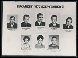 1977 A Malév 203-as Számú, BM-es Pilóták Vezette, Bukarestnél Lezuhant Járatának Személyzete, Kisméretű Tablókép, 10,5×1 - Other Collections